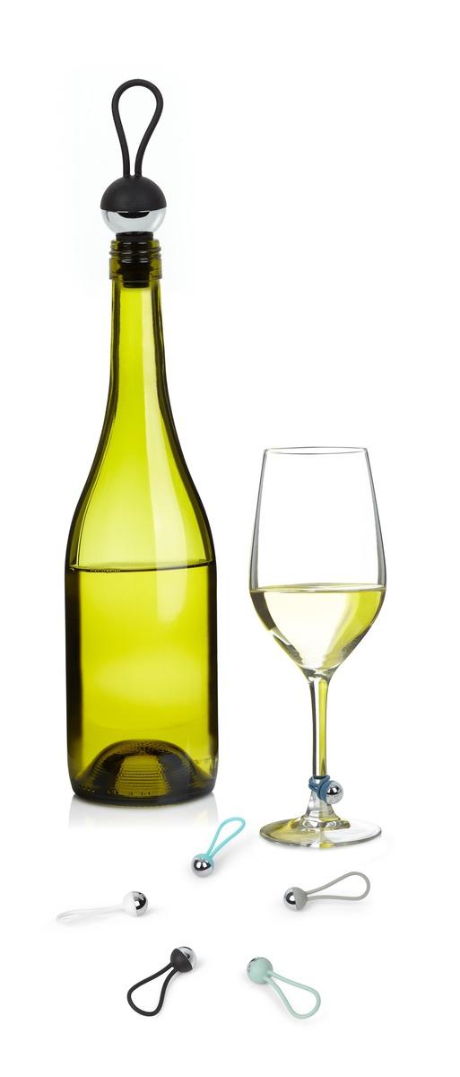 breloques pour verre de vin et bouchon pour bouteille. Black Bedroom Furniture Sets. Home Design Ideas