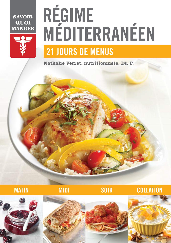 Nathalie verret d t p qu bec loisirs - Recettes cuisine regime mediterraneen ...